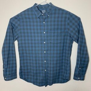 J. Crew Mens Large Long Sleeve Checkered Button Up